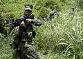 US Navy 050627-N-1397H-186 An alert U.S. Marine Corps Cpl., aims his M-16A1 rifle toward a possible threat.jpg