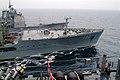 US Navy 060401-N-4772B-126 The amphibious dock landing ship USS Harpers Ferry (LSD 49) refuels with the Military Sealift Command (MSC) underway replenishment oiler USNS Walter S. Diehl (T-AO 193).jpg