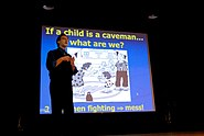 US Navy 070313-N-0924R-016 Dr. Harvey Karp, assistant professor of pediatrics at the UCLA School of Medicine and author of The Happiest Baby on the Block, discussed parenting methods during a presentation at Naval Medical Cente