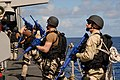US Navy 070416-N-2735T-277 Sailors assigned to the visit, board, search and seizure (VBSS) team aboard guided missile destroyer USS Bainbridge (DDG 96) perform training evolutions aboard USS Simpson (FFG 56) in preparation for.jpg