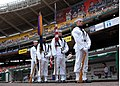 US Navy 070517-N-0773H-067 The United States Navy Ceremonial Guard stands ready in front of the visitor's dugout of RFK Stadium prior to parading the colors to open an afternoon baseball game between the Washington Nation.jpg