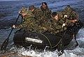 US Navy 070619-N-8487G-056 Members of 31st Marine Expeditionary Unit (MEU) launch a combat rubber raiding craft from the amphibious landing dock USS Juneau (LPD 10).jpg