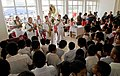US Navy 090714-N-9689V-006 The Pacific Fleet Band performs for primary school students during the an opening ceremony for the Pacific Partnership 2009 arrival in Tonga.jpg