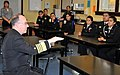 US Navy 091028-N-8848T-307 Adm. J. C. Harvey Jr., commander, United States Fleet Forces Command, speaks with students at Hyman G. Rickover Naval Academy.jpg