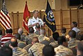 US Navy 100327-N-8273J-078 Chief of Naval Operations (CNO) Adm. Gary Roughead conducts an All Hands call with service members and DOD employees.jpg