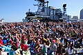 US Navy 100501-O-9999P-008 Girl Scouts, parents and supporters crowd the flight deck of the USS Midway Museum to initiate this year's send-off celebration for Operation Thin Mint.jpg