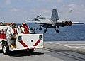 US Navy 100520-N-3885H-038 Crash and Salvage Sailors observe an F-A-18 Hornet launch from USS George H.W. Bush (CVN 77).jpg