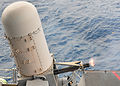 US Navy 100815-N-5838W-040 USS Enterprise (CVN 65) test-fires the close-in weapons system during a pre-action aim calibration fire.jpg