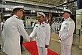 US Navy 110518-N-ZB612-105 Staff Brig. Gen. Ibrahim Salim Al Musharrakh greets the Navy Staff with Chief of Naval Operations (CNO) Adm. Gary Roughe.jpg
