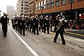 US Navy 111124-N-CD297-008 Musician 1st Class Jennifer Lange, from Rockford, Ill., the drum major for the U.S. Navy Band Great Lakes marching band.jpg