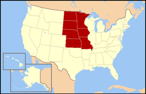 West North Central States - Image: US map W North Central