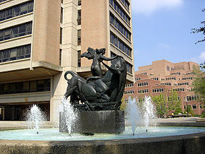 View of Europa and the Bull at the UT McClung Plaza.