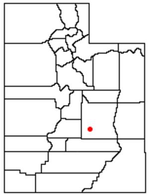 Muddy Creek (Utah) - Location of Muddy Creek, Utah