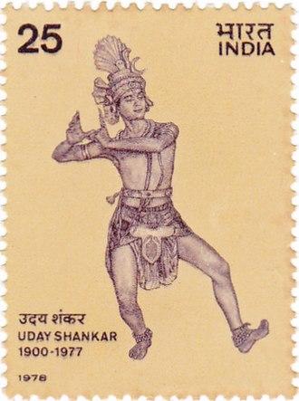 Uday Shankar - Uday Shankar on a 1978 stamp of India