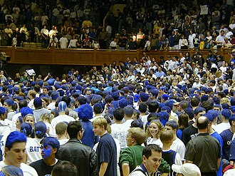 Cameron Crazies - Cameron Crazies swarm the court after Duke defeated North Carolina, 1999–2000