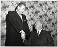Unidentified man and Mayor John F. Collins in Holyoke (10949760635).jpg