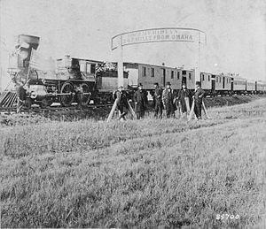 Porcupine (Cheyenne) - Union Pacific train, 1866, near the location of Porcupine's attack