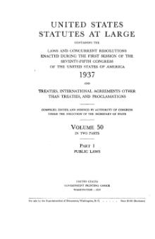 United States Statutes at Large Volume 50 Part 1.djvu