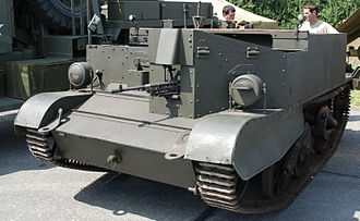 Universal Carrier - Universal Carrier as mortar carrier with Bren mounted at front
