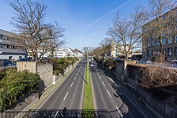Universitätsstraße, Fahrbahnabsenkung an der Universität zu Köln-0598