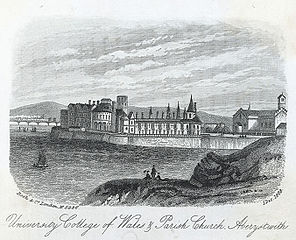 University college of Wales and parish church, Aberystwith