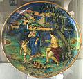 Urbino, francesco xanto avelli con lusto di m. andreoli da gubbio, ercole e onfale, 1528.JPG