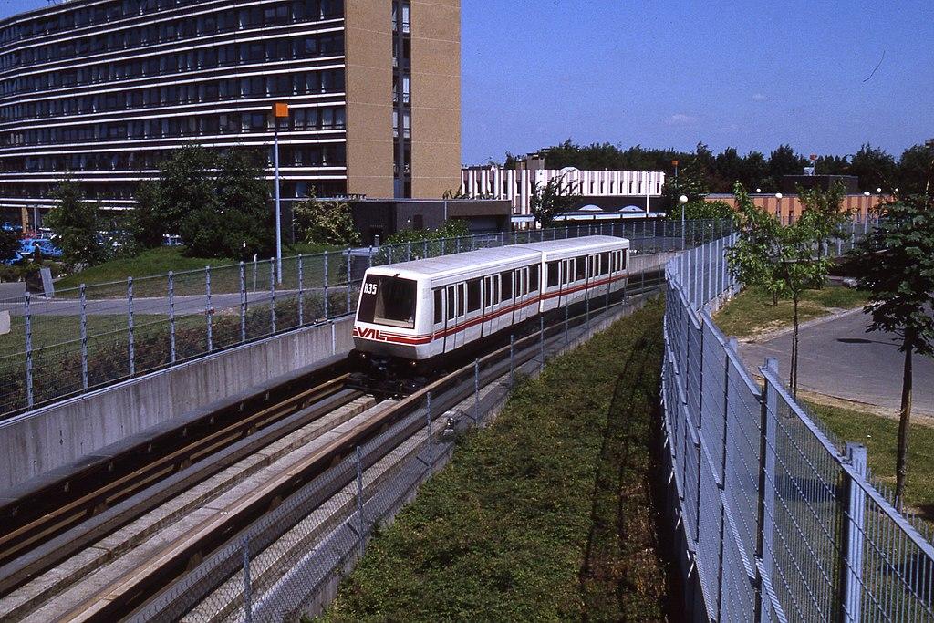 Lille, franciaország, automata metró, VAL, VAL 206