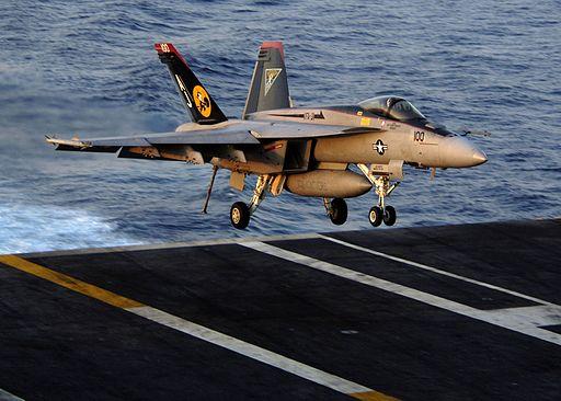 VFA-31 FA-18E landing