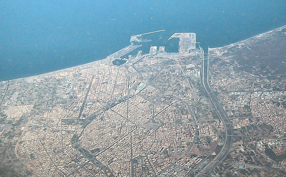 Valencia luchtfoto