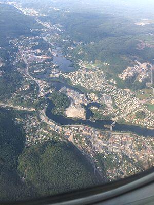 Vennesla - View of the village of Vennesla