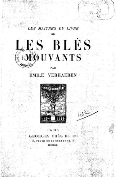 File:Verhaeren - Les Blés mouvants, 1912.djvu