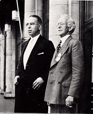 Farran Zerbe - Zerbe (right) with his successor as head of the Chase Manhattan Money Museum, Vernon Brown, c. 1939