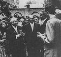 Vernon O Johnson with Khrushchev at American Embassy Moscow, 4 July1961.jpg