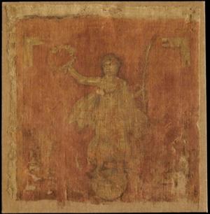 Vexillum - The only extant Roman vexillum, 3rd century AD. Pushkin Museum of Fine Arts, Russia.