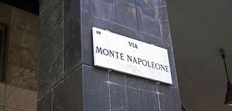 Via Monte Napoleone - Image: Via Monte Napoleone (Milan)