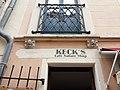 Vichy - Rue d'Allier, vieille maison, balcon et enseigne Keck's Café Nature Shop.jpg