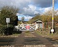 View across the level crossing in Roudham - geograph.org.uk - 1710427.jpg