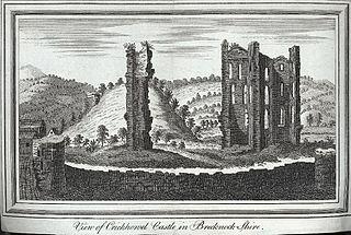 View of Crickhowel Castle in Brecknock shire