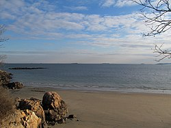 View of Massachusetts Bay from Mingo Beach, Endicott College, Beverly MA.jpg