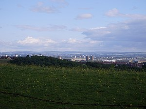 Cleddans - Image: View to Glasgow from Cleddans Road geograph.org.uk 890557