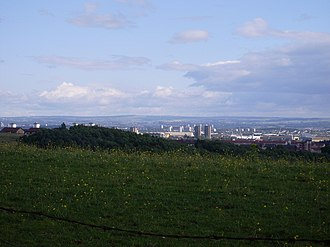 Cleddans - View to Glasgow from Cleddans Road