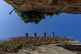 View to the sky from a tiny street, Plomin, Istria County, Croatia 12.jpg