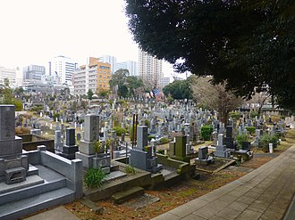 Aoyama Cemetery - View inside the cemetery