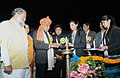 Vijay Goel lighting the lamp to inaugurate Pandit Deen Dayal Upadhyaya Indian National Style Kabaddi Championship 2017, at Sonipat, Haryana.jpg