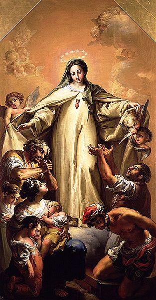 Vicente López y Portaña (1772-1850): Virgen de la Merced redentora de cautivos (1803), Museo de Bellas Artes i Valencia i Spania