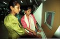 Visitors Experiencing Interactive Computer Game - Science City - Calcutta 1997-November 1017.JPG