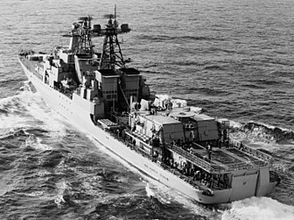 Russian destroyer Vice-Admiral Kulakov - Vice-Admiral Kulakov in 1985