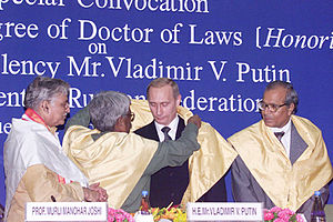 English: DELHI. Ceremony conferring upon Vladi...