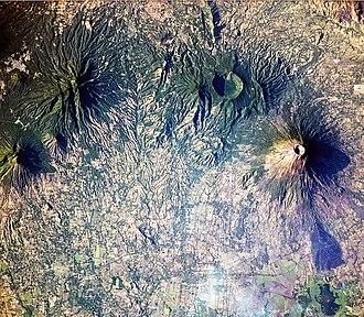 San Miguel (volcano) - Image: Volcanoes near Usulután, El Salvador
