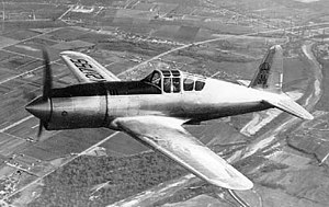 Vultee P-66 Vanguard, Model 48 in flight with original long nose cowling 061024-F-1234P-029.jpg